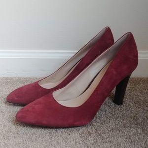 Franco Sarto Tawny Suede Plum Pumps Heels Size 7.5